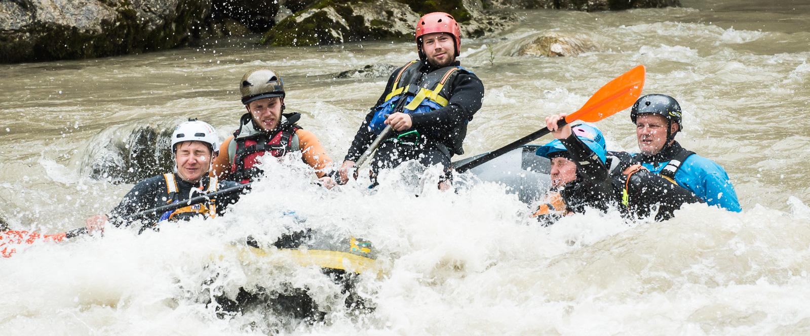 Guideausbildung des Salzburger Outdoor & Wildwasserverbandes auf der Saalach bei Lofer